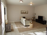 Living room in larger 1 bedroom
