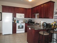 Kitchen in large 1 bedroom apt