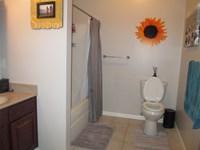 Bathroom in large 1 bedroom apt