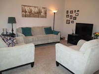 Livingroom in large 1 bedroom apt